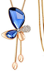 Necklace Crystal Pendant Necklaces Jewelry Daily / Casual Geometric Unique Design Alloy Women 1pc Gift White / Blue / Champagne