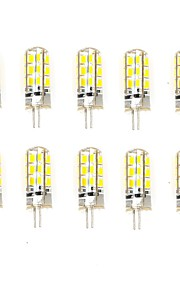 10 Pcs Trådbunden Others G4 24 led Smd 2835  DC12v 650 lm Warm White Cold White Double Pin Waterproof Lamp Övrigt