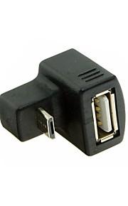 neue 180-Grad abgewinkelte Micro-USB-OTG-USB 2.0 Buchse Verlängerungsadapter für Handy-up&Tablette