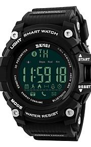 Masculino Relógio Esportivo DigitalLED / Controle Remoto / Calendário / Cronógrafo / Impermeável / alarme / Monitor de Batimento Cardíaco
