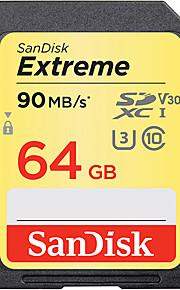 SanDisk 64GB SD Karten Speicherkarte UHS-I U3 Class10 V30 Extreme