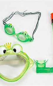 Snorkeling Packages Kids PVC Diving  Snorkeling  Swimming Green  Blue