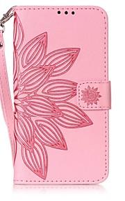 Per Porta-carte di credito / Con chiusura magnetica / Decorazioni in rilievo Custodia Integrale Custodia Fiore decorativo Resistente