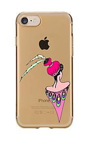 Für Transparent / Muster Hülle Rückseitenabdeckung Hülle Sexy Lady Weich TPU für AppleiPhone 7 plus / iPhone 7 / iPhone 6s Plus/6 Plus /