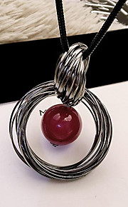 MPL Europe and the United States fashion red pearl double ring Long Necklace