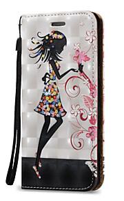 Для Кошелек / Бумажник для карт / Флип Кейс для Чехол Кейс для Соблазнительная девушка Твердый Искусственная кожа для SamsungOn 5 / J7