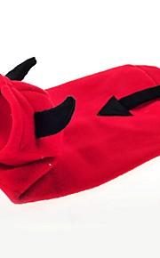 katten / honden Jassen / Hoodies Rood Hondenkleding Winter / Lente/Herfst Cartoon Schattig / Houd Warm