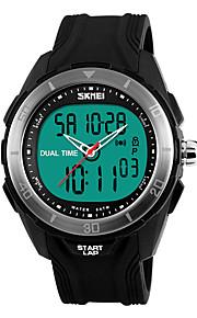 Masculino Relógio Esportivo Digital LED / Calendário / Cronógrafo / Impermeável / Dois Fusos Horários / alarme / Cronômetro / Noctilucente
