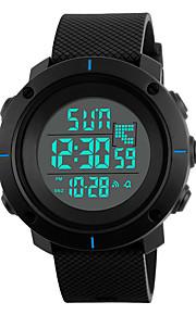 Masculino Relógio Esportivo / Relógio de Moda Digital LED / Calendário / Cronógrafo / Impermeável / alarme / Cronômetro / Noctilucente PU
