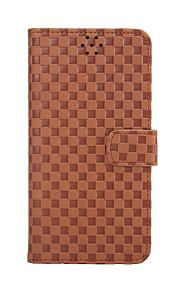 Для Кошелек / Бумажник для карт / со стендом / Флип Кейс для Чехол Кейс для Геометрический рисунок Твердый Искусственная кожа для Samsung