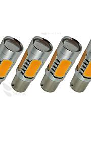 4X Gul Høy Effekt Bau15S 1156Py 7,5 W Hale Brems Signal LED Lyspærer 7507