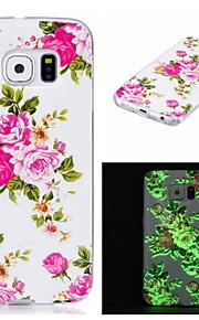 Per Fosforescente / IMD / Fantasia/disegno Custodia Custodia posteriore Custodia Fiore decorativo Morbido TPU per SamsungS7 edge / S7 /
