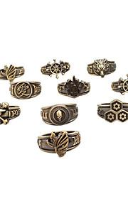 Smycken Inspirerad av One Piece Cosplay Animé Cosplay Accessoarer Ring Silver Legering Man Kvinna