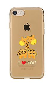 For Transparent Pattern Case Back Cover Case Cartoon Sweet Giraffe Soft TPU for IPhone 7 7Plus iPhone 6s 6 Plus iPhone 6s 6 iPhone 5s 5 5E 5C