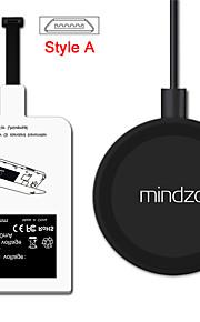 style-en android trådløs lading kit lader adapter reseptor pad spiral mottaker for alle android micro usb stil-en smarttelefon