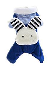 Hunde Mäntel Blau Hundekleidung Winter Sommer Karton Niedlich
