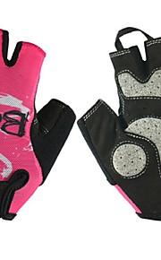 BODUN /SIDEBIKE® スポーツグローブ 女性用 サイクルグローブ 春 夏 秋 冬 サイクルグローブ 高通気性 耐摩耗性 耐久性 保護 フィンガーレス メッシュ サイクルグローブ ピンク サイクリング