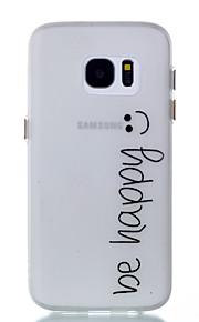 För Självlysande fodral Skal fodral Ord / fras Mjukt TPU för Samsung S7 edge S7