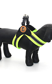Hunde Krave Seler Reflekterende Justérbar/Udtrækkelig Åndbart Plæd / Tern Grøn Grå Rose Net PU Læder