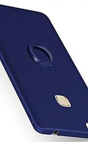 ל מחזיק טבעת מגן כיסוי אחורי מגן צבע אחיד קשיח PC ל Huawei Huawei P9 Huawei P9 Plus Huawei Honor 8 Huawei Honor V8