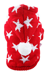 Dog Sweater Red Dog Clothes Winter Spring/Fall British Casual/Daily