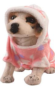 Hundar Klänningar Rosa Hundkläder Vinter Vår/Höst Hjärtan Gulligt Ledigt/vardag