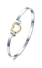 Armbånd Armbånd Kvadratisk Zirconium Plastik Sølvbelagt Fødselsdag Daglig Smykker Gave Sølv,1 Stk.