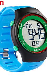 la mode Ezon montres ultra-minces hommes sport féminin imperméable date chronomètre caoutchouc d'alarme montre-bracelet de sport numérique