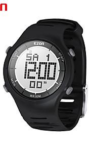la mode mens montres numériques casual 30m étanche chronomètre double fuseau horaire numérique montre-bracelet sport en plein air Ezon