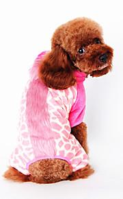 Hundar Väst Rosa Hundkläder Vinter Vår/Höst Djurmönstrad Gulligt Ledigt/vardag