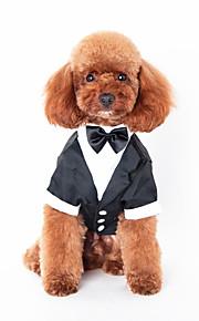 Hundar Tröjor Svart Hundkläder Vinter Vår/Höst Britisk Gulligt Ledigt/vardag