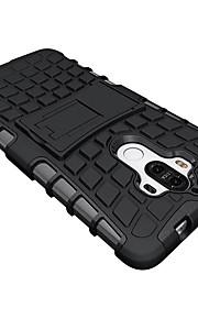 ל עמיד בזעזועים עם מעמד מגן כיסוי אחורי מגן צבע אחיד קשיח TPU ל Huawei Huawei Mate 9