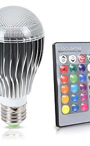 10W E26/E27 LED 글로브 전구 A70 1 COB 1000 lm RGB 밝기 조절 리모컨 작동 센서 장식 방수 V 1개