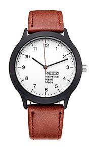 KEZZI Unissex Relógio de Moda Relógio de Pulso Relógio Casual Quartzo Quartzo Japonês PU Banda Casual Preta Azul Marrom Preto Marron Azul