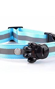 Köpekler Yakalar LED Işıklar Şarj Edilebilir Tek Renk Kırmızı Beyaz Yeşil Mavi Pembe Sarı Turuncu Naylon