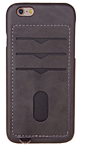 Per Porta-carte di credito Custodia Custodia posteriore Custodia Tinta unita Resistente Similpelle per AppleiPhone 7 Plus iPhone 7 iPhone