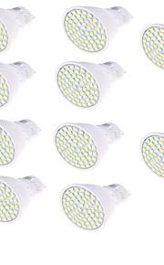 4W GU10 LED-spotpærer 60 SMD 2835 350 lm Varm hvit Kjølig hvit Dekorativ AC220 V 10 stk.