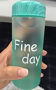 frosted cartoon to-go outdoor drinkware, 320 ml lekvrije glas sap water nieuwigheid drinkware tumbler