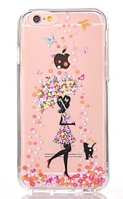 Pour Transparente Motif Coque Coque Arrière Coque Femme Sexy Dur Polycarbonate pour AppleiPhone 7 Plus iPhone 7 iPhone 6s Plus/6 Plus