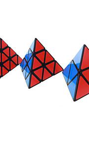 Shengshou® קיוב מהיר חלקות Pyraminx מהירות רמה מקצועית קוביות קסמים לדעוך שחור שנהב מדבקה חלקה אנטי-פופ אביב מתכוונן ABS
