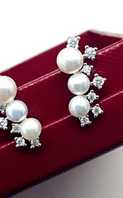 Ikke-sten Dråbeøreringe Smykker Dame Daglig Afslappet Perle 1 par Hvid
