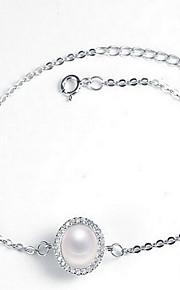 Armbånd Kæde & Lænkearmbånd Imiteret Perle Andre Mode Smykker Gave Sølv,1 Stk.