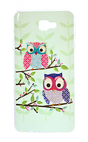 For Samsung Galaxy J7 Prime J5 Prime J3 Prime J3 Prime TPU Material Gold Powder Up and Down the Owl Pattern Phone Case