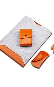 för macbook air pro 11,6 '' 13,3 '' 15,4 '' 12 '' vattentät kände super fiber electronics sleeves insatspåsen anteckningsbok med makt