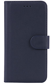 För Plånbok Korthållare fodral Heltäckande fodral Enfärgat Hårt PU-läder för AppleiPhone 7 Plus iPhone 7 iPhone 6s Plus/6 Plus iPhone