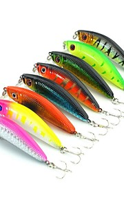 Lot 8 Pcs Fishing Lures Crank Bait Lures Minnow Plastic Bass Trout Lure China Hard Artificial Bait 5.8cm 7.9G