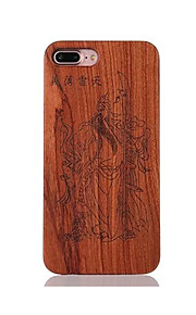 Pour Antichoc Relief Motif Coque Coque Arrière Coque Dessin Animé Dur Bois pour AppleiPhone 7 Plus iPhone 7 iPhone 6s Plus/6 Plus iPhone