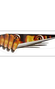 ZIQIAO Funny Car Sticker 3D Eyes Peeking Monster Sticker Voyeur Car Hoods Trunk Thriller Rear Window Decal