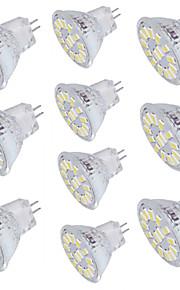 4W GU4(MR11) LED-spotpærer 15 SMD 5733 350 lm Varm hvit Kjølig hvit Dekorativ V 10 stk.