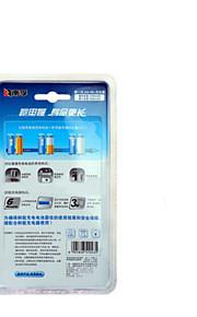 Nanfu aa uppladdningsbart batteri 2100mAh med laddare för leksaksbil / blodsockermätare / klocka klocka / mus tangentbord 4 tabletter